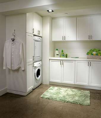 Laundry - White Melamine and Shake Foil Fronts