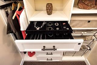 Jewelry Trays from Valet Custom Cabinets & Closets