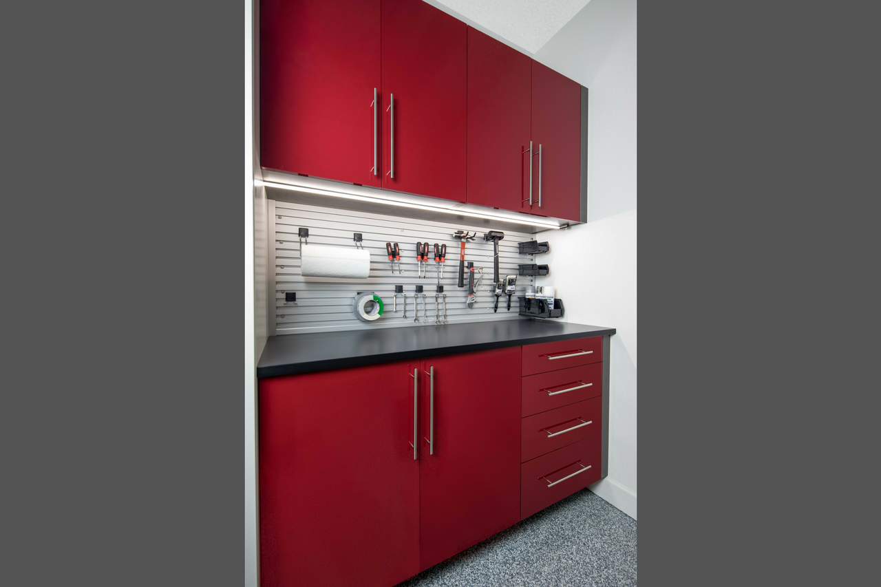 SIENNA MATTE TEXTURED THERMALLY FUSED LAMINATE - RED ACRYLIC FRONTS