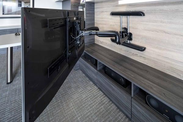 Full motion TV Wall Mount, Media center by Valet Custom Cabinets & Closets