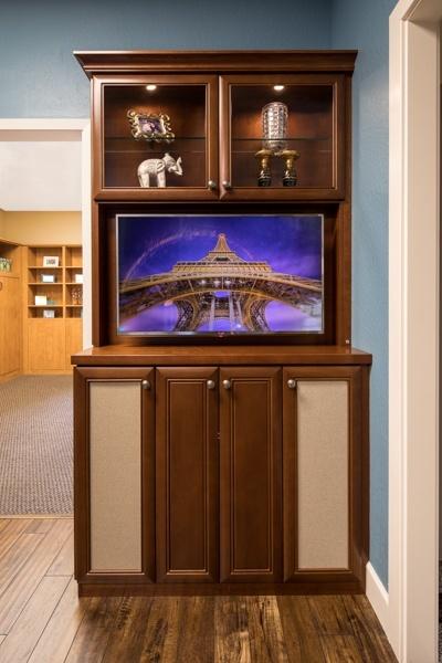 Custom Alcove Media Center by Valet Custom Cabinets & Closets