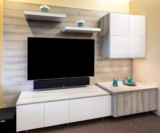 Custom Media Center by Valet Custom Cabinets & Closets