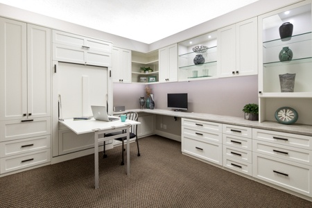 Valet Custom | High End Home Offices with Wall Beds & Workspace Storage