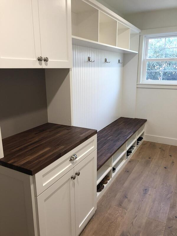 White TFL Beaded Shaker with Butcher Block Walnut Counter-1512x2016