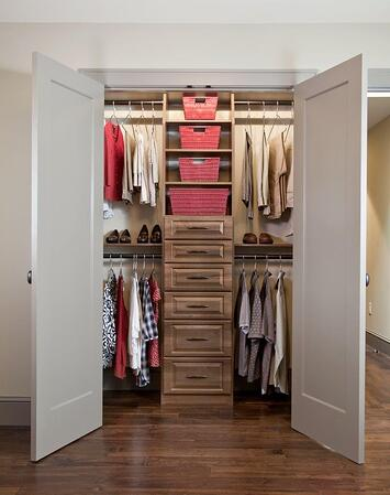 Custom designed reach-in closet by Valet