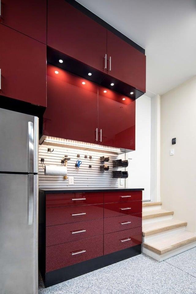 Custom Garage Workbench by Valet Custom Cabinets & Closets