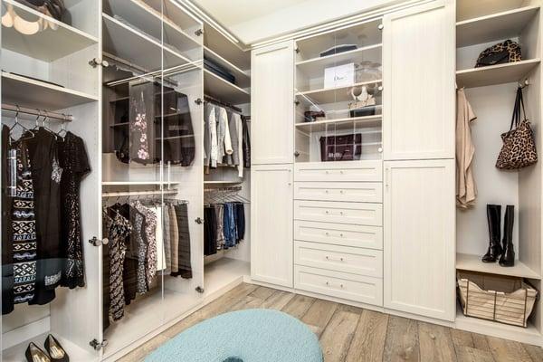 Los Gatos Master Walk-in Closet by Valet Custom Cabinets & Closets