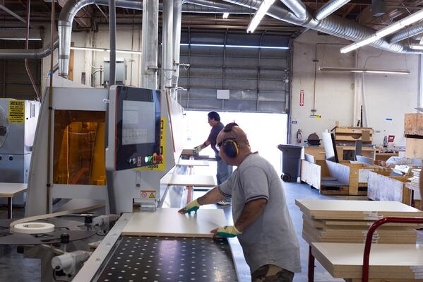 We do all of our own manufacturing on site at Valet Custom Cabinets & Closets in Campbell, CA.
