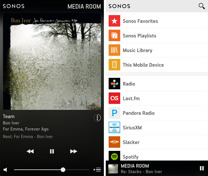 Sonos multiroom control