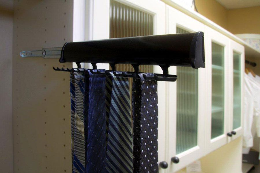 Sliding Tie Rack by Valet Custom Cabinets & Closets