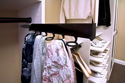 Sliding Scarf Rack by Valet Custom Cabinets & Closets