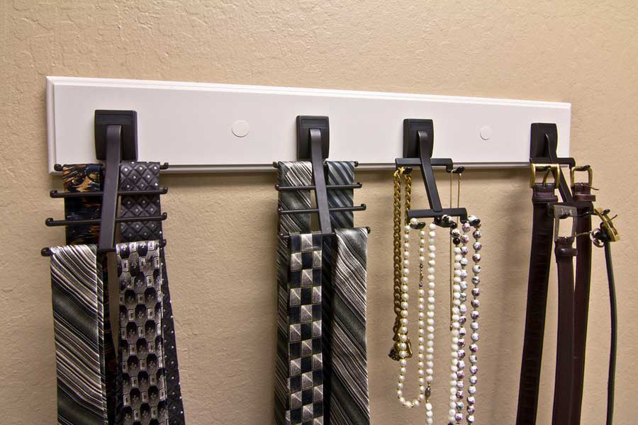 Belt and Tie Hooks by Valet Custom Cabinets & Closets