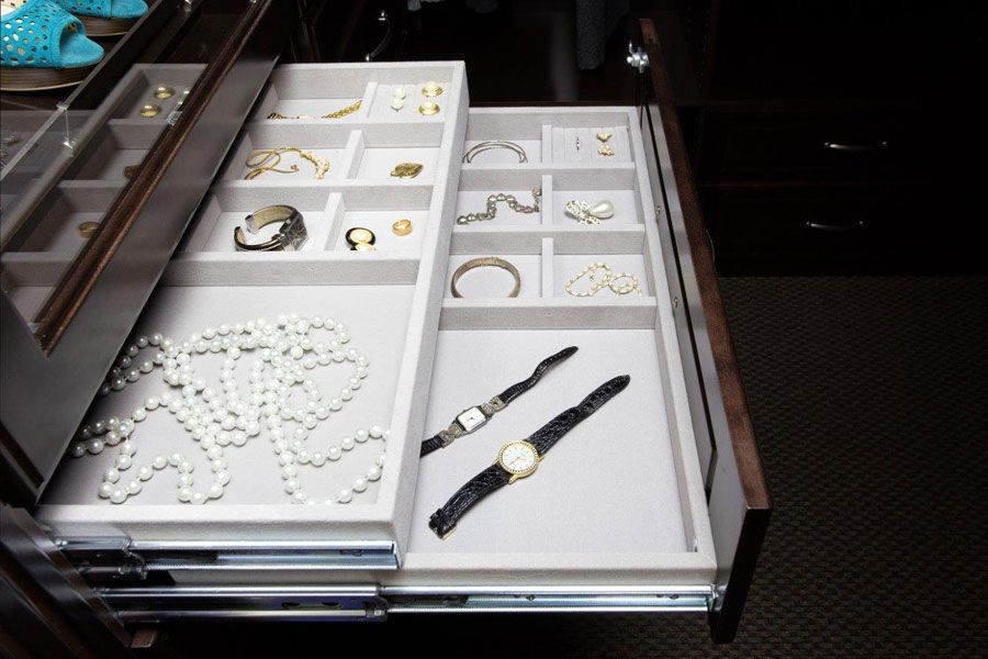 Jewelry Drawer by Valet Custom Cabinets & Closets