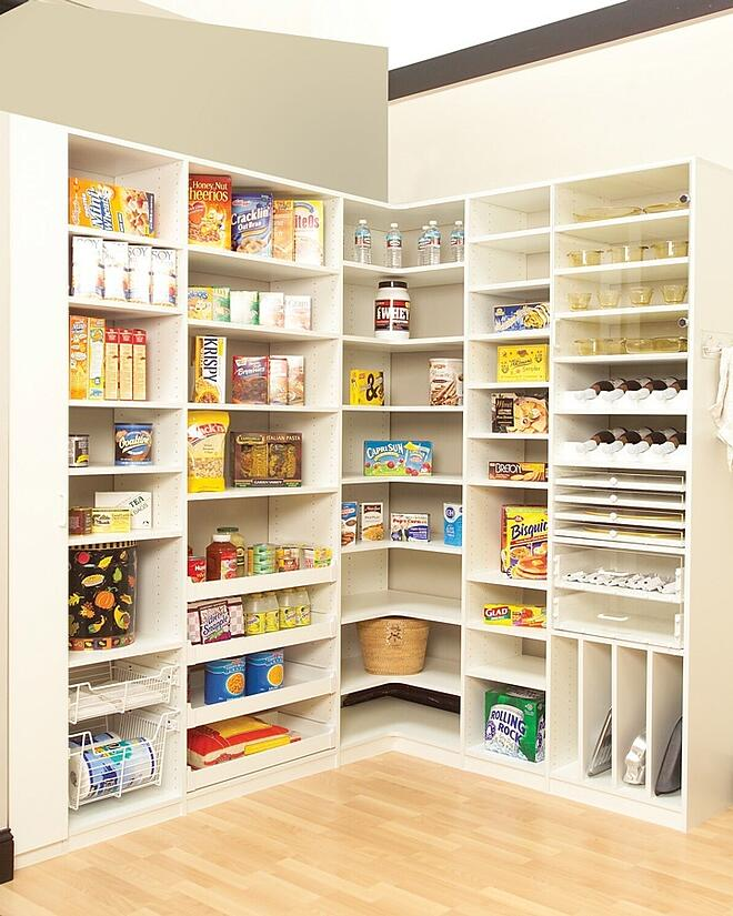 Food for thought a custom walk in pantry helps make - Small kitchen storage ideas on a budget ...