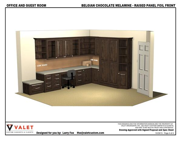 Office and Guest Room by Valet Custom Cabinets & Closets