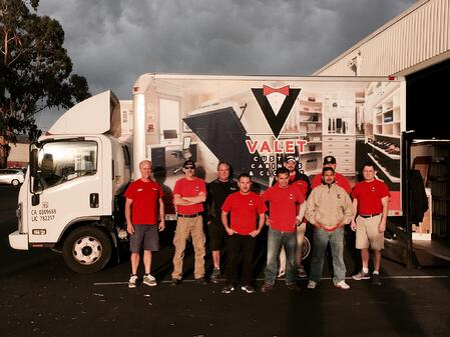 Valet Custom Cabinets & Closets Installation crew