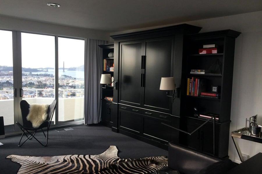Valet custom luxury murphy beds vertical wall bed for Murphy beds san francisco