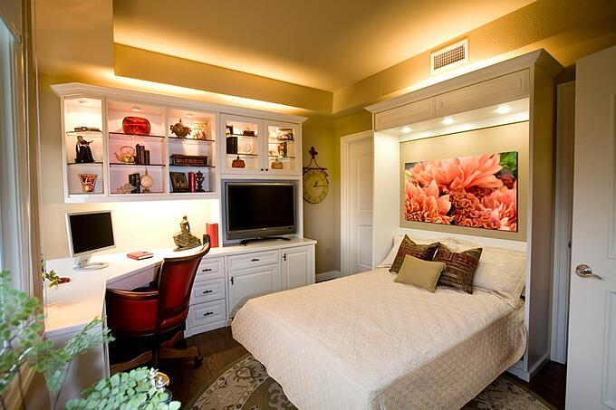 Wall Bed with Home Office by Valet Custom Cabinets & Closets