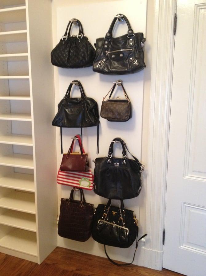 custom accessory storage system for purses