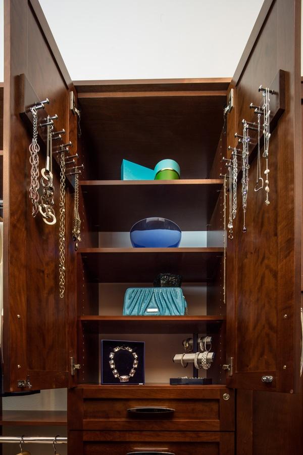jewelry cabinet for custom accessory storage