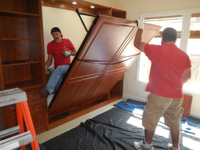 Wall Bed Installation by Valet Custom Cabinets & Closets