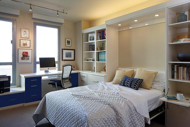 Wall Bed and Home Office by Valet Custom Cabinets & Closets