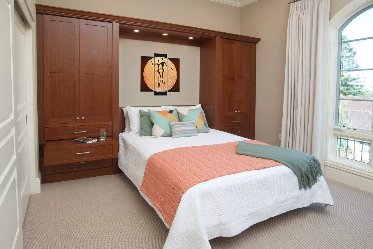 Valet custom luxury murphy beds vertical wall bed systems in tumalo mountain cherry amipublicfo Choice Image
