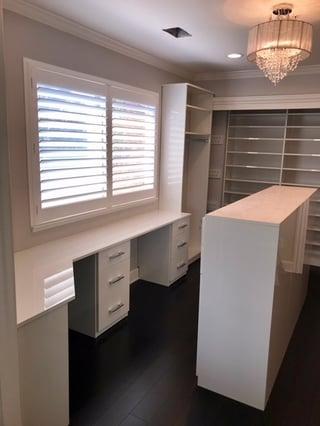 window, desk, vanity