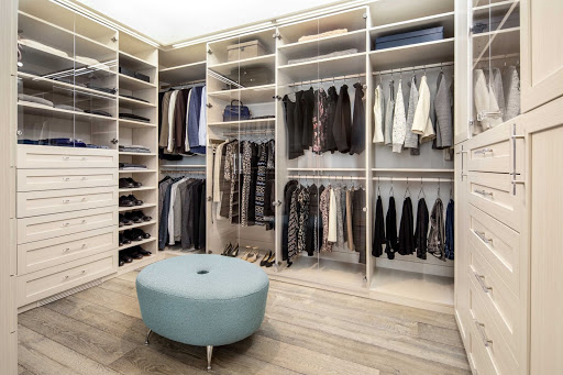 Los Gatos Luxury Master Closet by Valet Custom Cabinets & Closets